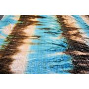 Бархат-стрейч мраморный, крэш, голубые тона фото