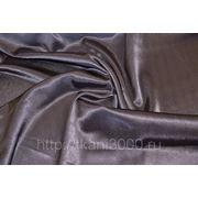 Креп-сатин темно - серый фото