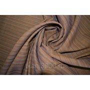 Лен полоска коричневого тона фото