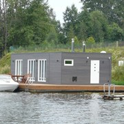 Модульный плавучий дом с русской баней фото