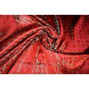 """Китайский шелк (костюмный) розовый """" Дракон и гонг"""" (ширина 90 см) фото"""