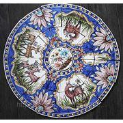 Керамические панно олени круглое