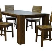 Стулья и столы для кафе и баров из натурального дерева фото