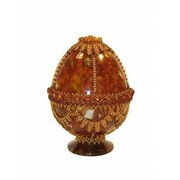 Яйцо пасхальное из янтаря 0741-aw фото