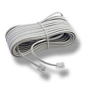 Удлинитель телефонный белый УТИ-2/15 Импортный разъем Джек-Джек 15м фото