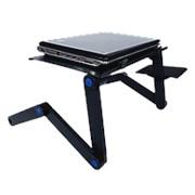 Подставка для ноутбука, складной столик-трансформер с вентилятором фото