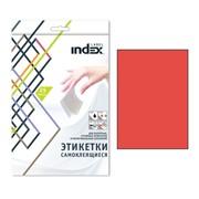 Самоклеящиеся этикетки ф.A4, 210x297; 1 этик. на л., 25 л, красный, (INDEX) фото