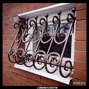 Кованая оконная решетка №21 фото
