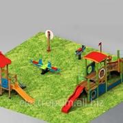 Площадки 3D модели Детям от 2 до 5 лет Тип комплекса 1.5Комплексы детские игровые фото