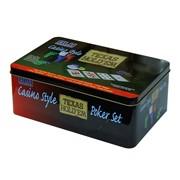 Набор для игры в покер, в металлической коробке, 200 фишек фото
