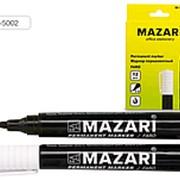 Маркер перманентный 2 мм черный MAZARI фото