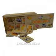Деревянный набор детского домино с животными IE121 фото