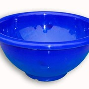 Миска пластмассовая синяя фото
