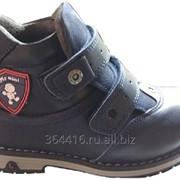 Ботинки детские для мальчиков синие демисезонные натуральная кожа MyMini фото