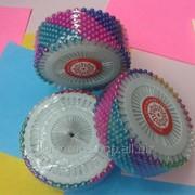 Булавки бусинка круглые 1кор - 3уп х 12 шт 1332 фото