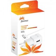 Сетевое зарядное устройство Florence USB, 1A + cable iPhone 4/4S (TC10-IPH4) фото