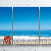 Модульна картина на полотні Морський пляж код КМ100180-001 фото