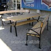 Набор скамья со столом фото