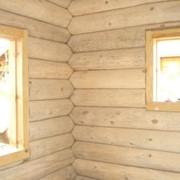 Шлифовка стен деревянного дома фото