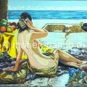 Панно «Девушка у моря» фото