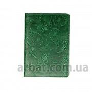 Обложка для паспорта Вuta зеленый Кожа фото