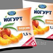 Йогурт Удачный выбор 1,5 % персик фото