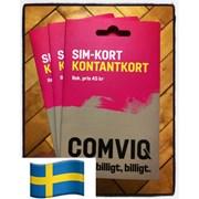 Comviq Швеция Европа роуминг/прием смс/регистрация фото