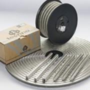 Клипса П-образная на клеевой полоске и на бобинах, для ручных и полуавтоматических клипсаторов фото
