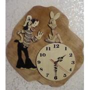 Настенные - Часы в деревянной обработке, ручная работа фото