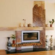 Облицовка камина - мрамор: Teak Wood, Forest Brown фото