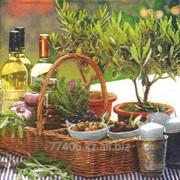Салфетка для декупажа Масло и травы фото