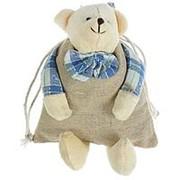 Подарочный мешочек Мишутка с бантиком 10см × 18см фото