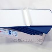 Обложка для твердого переплёта бесканальная с шириной корешка 25 мм, книжная, синяя фото