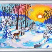 Наборы для вышивания бисером Зимнее утро фото