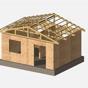 Деревянно-каркасный, сборно-щитовой дачный дом фото