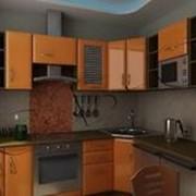 Кухня светло-коричневая фото