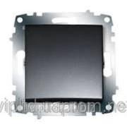 Выключатель ZENA модуль дымчатый 609-011100-200 фото