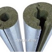 Каменноватные цилиндры с кашировкой алюминиевой фольгой Isotec Section AL, внутренний диаметр 35 мм фото