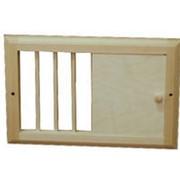 Вентиляционная решетка деревянная малая с задвижкой фото