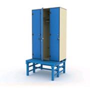 Шкаф 3-1 + скамья-подставка фото