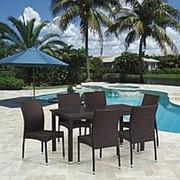 Комплект плетеной мебели T256A/Y380A-W53 Brown 6Pcs фото