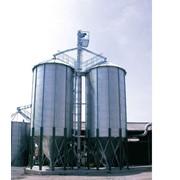 Металлические силоса для хранения зерна, пелет с конусным днищем фото