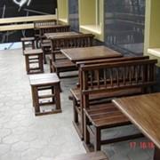 Садовая деревянная мебель фото