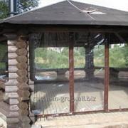 Гибкие окна на беседку, уличные шторы, защита на беседку фото