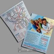 Реклама на схеме метрополитена фото