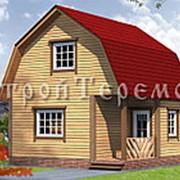 BD - 24. Дом из бруса с мансардой 6 х 6. фото