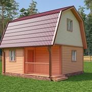 "Каркасный дом с мансардой ""Дарьяна"" размер 6х6 м фото"
