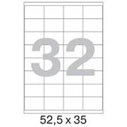 Этикетки самоклеящиеся 52,5x35 мм 32 шт/л,100 л/пач. фото