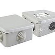Распаячная коробка ОП 100х100х50мм, крышка, IP55, 6 вх. инд. штрихкод TDM фото