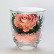 Роза в стекле tm FIORA CuM-Rp-28984 фото